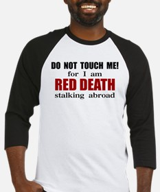 Red Death Stalking Abroad Baseball Jersey