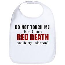 Red Death Stalking Abroad Bib
