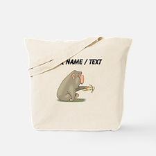 Custom Chimp Eating Banana Tote Bag
