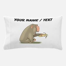 Custom Chimp Eating Banana Pillow Case