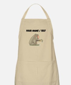 Custom Chimp Eating Banana Apron