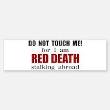 Red Death Stalking Abroad Bumper Bumper Bumper Sticker