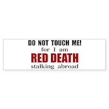 Red Death Stalking Abroad Bumper Bumper Sticker