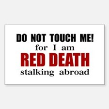 Red Death Stalking Abroad Rectangle Decal
