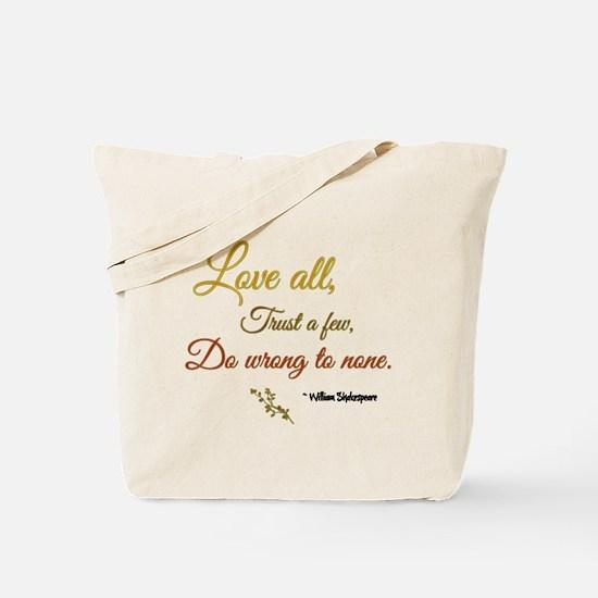 Love All ... Tote Bag