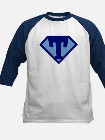 Super Hero Letter T Baseball Jersey