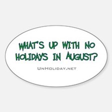 No August Holidays 02 Oval Decal