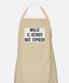 Mollie: retired not expired BBQ Apron