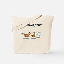 Custom Chickens Running Tote Bag