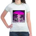 I Love Mushrooms Spherized Jr. Ringer T-Shirt