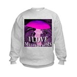 I Love Mushrooms Spherized Kids Sweatshirt