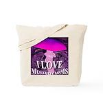 I Love Mushrooms Spherized Tote Bag