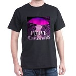 I Love Mushrooms Spherized Dark T-Shirt
