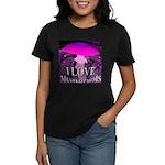 I Love Mushrooms Spherized Women's Dark T-Shirt