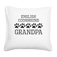English Coonhound Grandpa Square Canvas Pillow