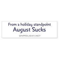 No August Holidays 03 Bumper Bumper Sticker