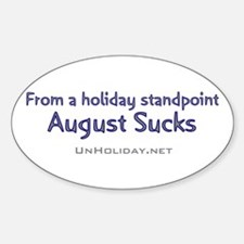 No August Holidays 03 Oval Decal