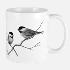 chickadee song bird Mugs