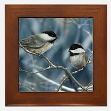 chickadee song bird Framed Tile