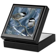 chickadee song bird Keepsake Box