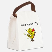 Custom Angry Chicken Canvas Lunch Bag