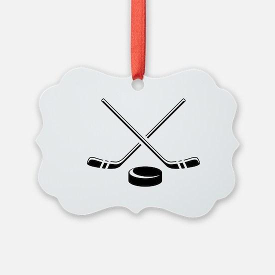 Hockey Sticks Ornament