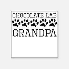 Chocolate Lab Grandpa Sticker