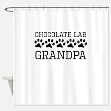 Chocolate Lab Grandpa Shower Curtain