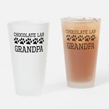 Chocolate Lab Grandpa Drinking Glass