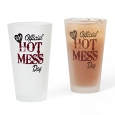 2-14 Official Hot Mess Day Drinking Glass