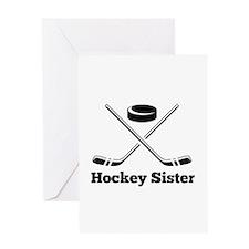 Hockey Sister Greeting Cards