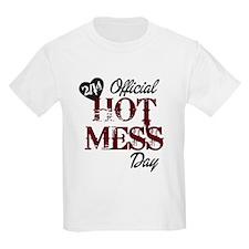 2-14 Official Hot Mess Day T-Shirt