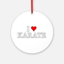 I Love Karate Ornament (Round)