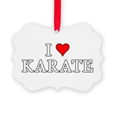I Love Karate Ornament
