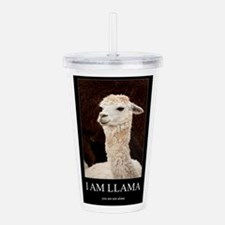 I Am Llama Acrylic Double-wall Tumbler