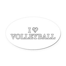I Love Volleyball Oval Car Magnet