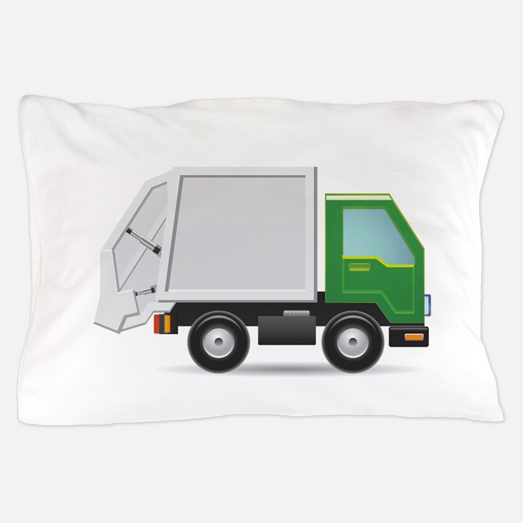 Garbage Truck Pillow Case