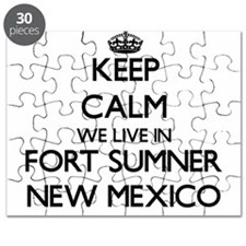 Keep calm we live in Fort Sumner New Mexico Puzzle
