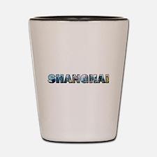 Shanghai China Skyline Shot Glass