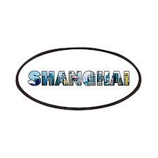 Shanghai China Skyline Patches