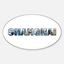 Shanghai China Skyline Decal
