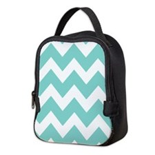 Oasis green chevrons Neoprene Lunch Bag