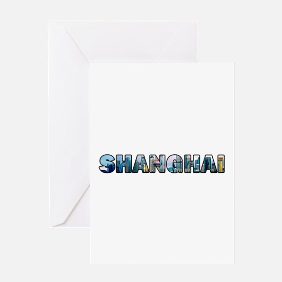 Shanghai China Skyline Greeting Cards