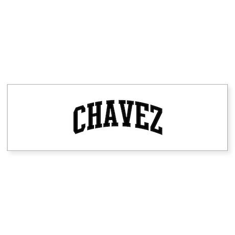 CHAVEZ (curve-black) Bumper Sticker