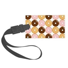 Frosted Donut Pattern Luggage Tag