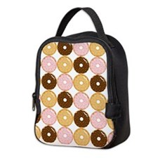 Frosted Donut Pattern Neoprene Lunch Bag