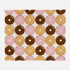Frosted Donut Pattern Throw Blanket