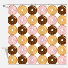 Frosted Donut Pattern Shower Curtain