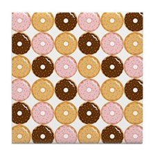 Frosted Donut Pattern Tile Coaster
