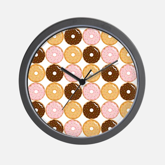 Frosted Donut Pattern Wall Clock